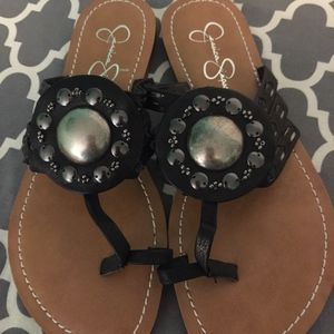 New Jessica Simpson black sandals, size 7